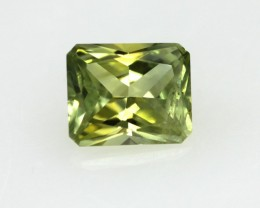 0.65cts Natural Australian Yellow Parti Sapphire Radiant Cut