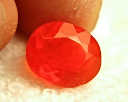 3.15 Carat Vibrant Orange Natural Fire Opal - Superb