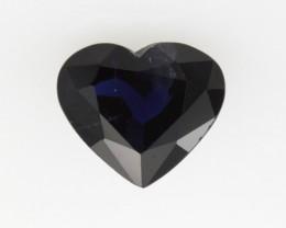 1.02cts Natural Australian Blue Sapphire Heart Shape
