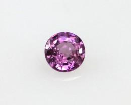 0.19cts Natural Sri Lankan (Ceylonese) Pink Sapphire Round Cut