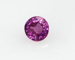 0.30cts Natural Sri Lankan (Ceylonese) Pink Sapphire Round Cut