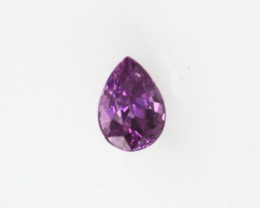 0.22cts Natural Sri Lankan (Ceylonese) Pink Sapphire Pear Shape