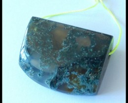 126.5 cts Natural Moss Agate Locket Pendant Bead(N007)