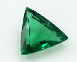 0.59cts Natural Emerald  Trillion Mixed Step Cut