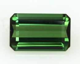 4.55cts Natural Green Tourmaline Emerald Step Cut