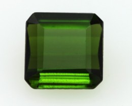 2.56cts Natural Green Tourmaline Emerald Step Cut