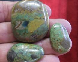136 Cts three  Turquoise cabochon BU 864