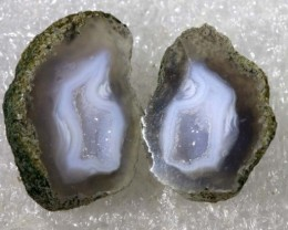 Agate Geode Pair NATURAL 26.65 CTS  ANGC- 168