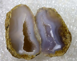 Agate Geode Pair NATURAL 27.35 CTS  ANGC-170