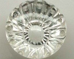 WHITE QUARTZ CARVING  12.60 CTS LG-1357