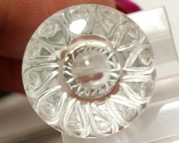 WHITE QUARTZ CARVING  12.90 CTS LG-1359