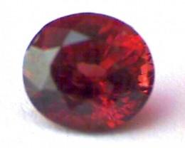 1.40ct Firey Red Spinel, IVVS Sri Lanka SL26a