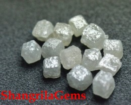 9 cube diamonds 2.85 to 3ct silver grey