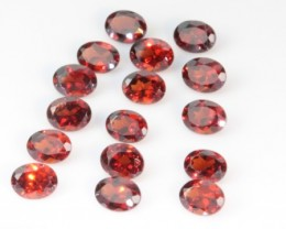 3.52 CT GARNET PARCEL - UNTREATED RED!  VVS1!  4 x 3mm