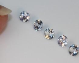 0.96 CT WHITE SAPPHIRE PARCEL - UNHEATED!  VVS!  3.5 mm