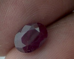 CERTIFIED 1.60ct Pretty Red- Pink Oval Cut Ruby, Africa DC26