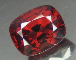 1.62 CT RARE RED M'GOK SPINEL - PURE RED COLOR!  VVS!