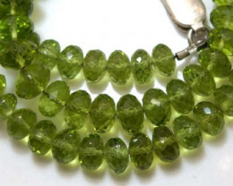 133.95 CTS PERIDOT FACETED BEAD NECKLACE ANGC-145