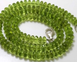 178.75 CTS PERIDOT FACETED BEAD NECKLACE ANGC-146