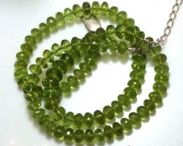 134.05 CTS PERIDOT FACETED BEAD NECKLACE ANGC-147