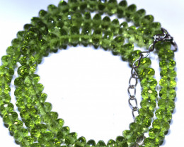 130.65 CTS PERIDOT FACETED BEAD NECKLACE ANGC-150