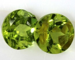1.85 CTS PERIDOT BRIGHT GREEN PAIR (2 PCS)   CG-1998