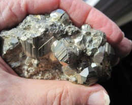 Small Pyrite display specimen with nice crystals