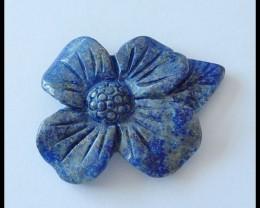 66.5 Ct Lapis Lazuli Flower Carving