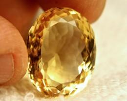 29.45 Carat Portuguese Cut VVS1 Golden Citrine - Superb