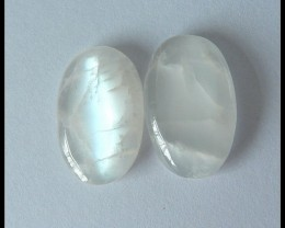 24.5 ct Pair Cabochon Natural Moon Stone