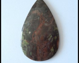 54.65 ct Natural Bi Color Mushroom Jasper Cabochon