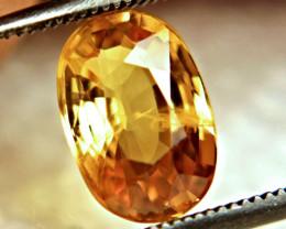 2.46 Carat SI Golden Yellow Sapphire