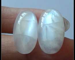 18.6 ct Natural Moonstone Cabochon Pair