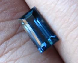0.97cts Natural Australian Blue Sapphire Baguette Cut