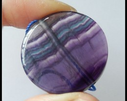 Beautiful! Rainbow Fluorite Round Pendant Bead,83 ct
