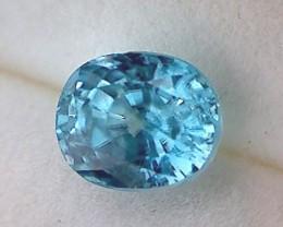 2.20cts Aqua Blue Brilliant Cut Zircon, VVS NA02