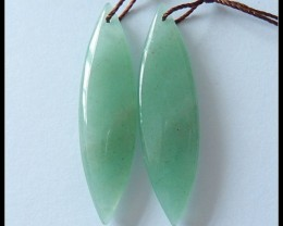 35 ct Natural Green Aventurine Earring Beads