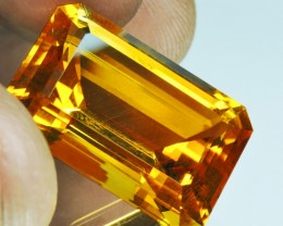 Private auction 24.30 CTS TOP DAZZLING NATURAL ULTRA RARE GOLDEN YELLOW CIT