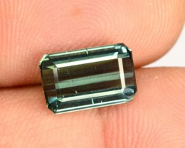 2.52 Cts Natural Green Tourmaline Octagon Faceted Mozambique Gem