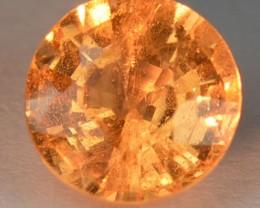 1.34 Cts Natural Fanta Orange Spessartite Garnet Round Cut Gem