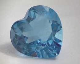 Sparkling Heart Shaped 3.30ct Swiss Blue Topaz VVS NA09