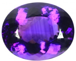 Huge 162+ Cts Natural AAA Violet Amethyst Oval Faceted Uruguay Gem