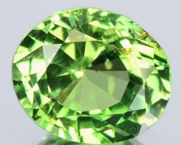 1.40 Cts Natural Intense Green Chrysoberyl Oval Cut Srilanka Gem