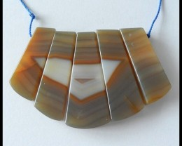 220.2 cts Natural Agate Gemstone Beads Strands For Necklace