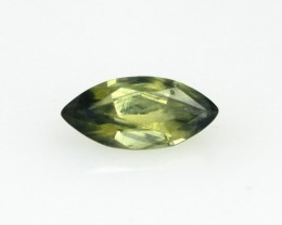 0.80cts Natural Australian Yellow/Green Parti Sapphire Marquise Shape