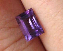 0.88cts Natural Purple Amethyst Baguette Shape