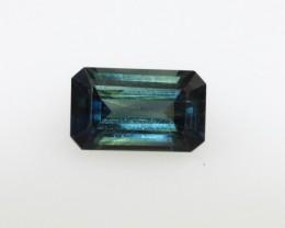 1.15cts Natural Australian Blue Sapphire Emerald Cut