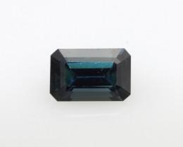 1.21cts Natural Australian Blue Sapphire Emerald Cut
