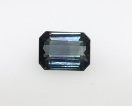 1.20cts Natural Australian Blue/Green Parti Sapphire Emerald Cut