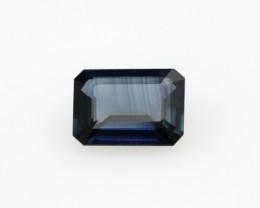 0.98cts Natural Australian Blue Sapphire Emerald Cut
